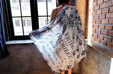 Literary Poetry Scarves - Fresh Comfy Reinterprets Classic Novels into Wearable Fashion