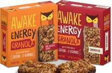 Caffeinated Granola Bars - Awake Chocolate's Granola Snack Bars Deliver Energy and B Vitamins