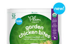 Frozen Organic Protein Snacks - Plum Organics Garden Chicken Bites Feature Wholesome Ingredients