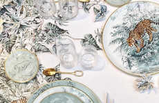 Jungle-Themed Dishware Collections - The Latest Hermes Housewares Collection is Inspired by Wildlife
