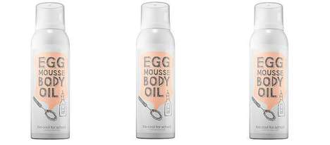 Food-Based Body Oils - The Egg Mousse Body Oil Contains Egg Whites to Moisturize the Skin