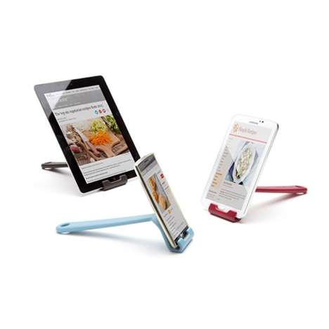 Culinary Mobile Stands - 'Cooklet' is a Mobile Device Stand That Can Be Stored on a Kitchen Rack