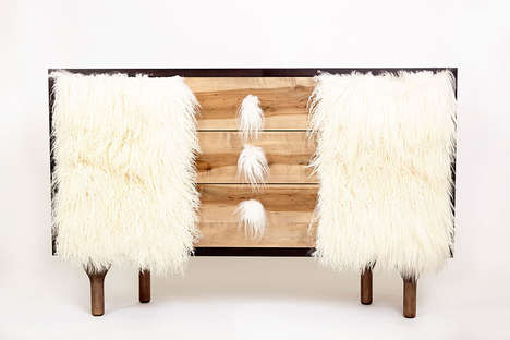 Fur-Clad Storage Cabinets