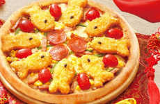 Fish Stick-Topped Pizzas - The New Fish Deluxe Pizza from Domino's Celebrates Chinese New Year