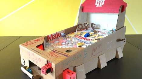 Papercraft Pinball Machines