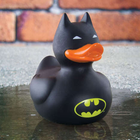 Superhero Toy Ducks - The Batman Rubber Duck Transforms the Iconic Dark Knight into a Bath Toy