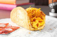 Cheesy Breakfast Tacos - This Dish Provides a Handheld Breakfast Solution for Consumers on the Go