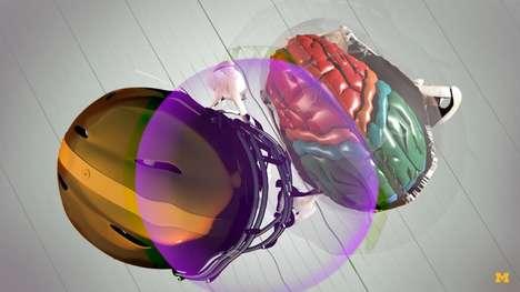 Damage-Mitigating Football Helmets