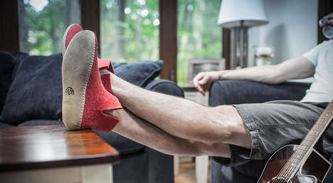 Woollen Boot Slippers - The Glerups Booties are Engineered to Retain Warmth and be Worn Barefoot