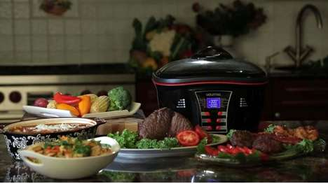 8-in-1 Countertop Cookers - The Gourmia Supreme Multi-Function Cooker is a Comprehensive Appliance