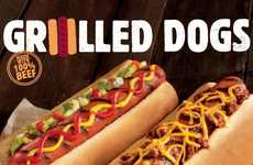 Flame-Grilled Hot Dogs - The Latest Burger King Dish Helps Consumers Enjoy Barbecue in Winter