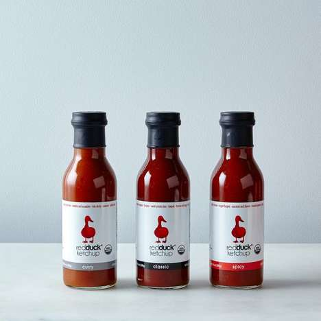 Artisanal Curry-Infused Ketchups