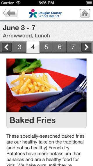 School Cafeteria Menu Apps