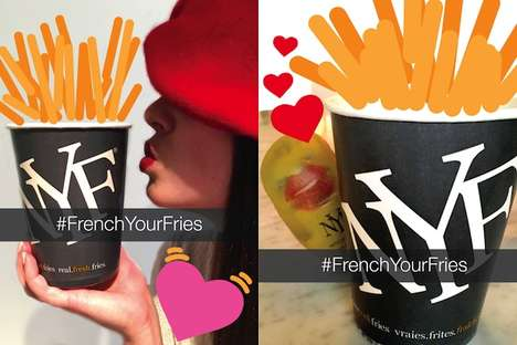 Romantic Fry Campaigns - New York Fries Offers a New Snapchat Filter to Encourage Kissing the Food