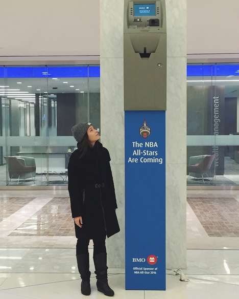 Basketball-Inspired ATMs - This 10-Foot-Tall BMO Bank Machine Promotes the Annual NBA All-Star Game
