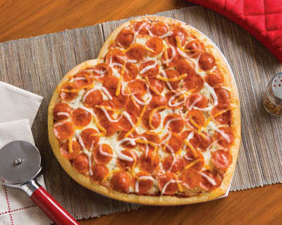 Bakeable Heart-Shaped Pizzas