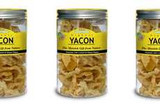 Wholesome Yacon Root Crisps - The Yacon Root Flakes from 'Of the Earth' Serve as a Healthy Snack