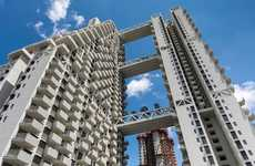 Garden-Topped Residential Towers - The Sky Habitat Development Features Beautiful Sky Gardens