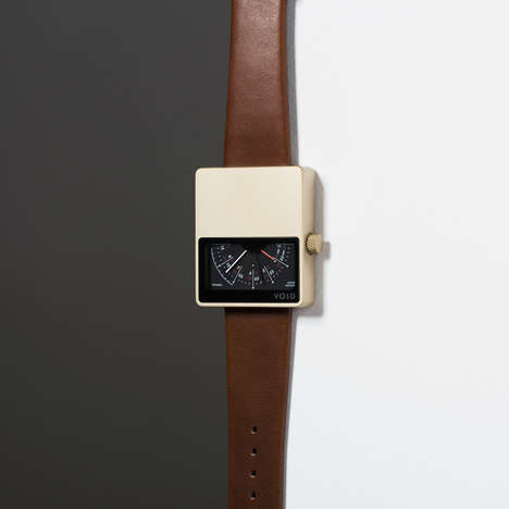 Analog Dial Timepieces - The V02MKII Minimalist Watch Features an Unusual Square Shape