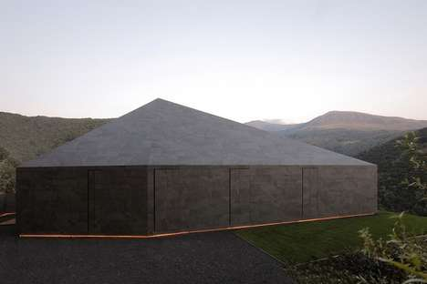Rural Sci-Fi Abodes - The Montebar Villa by JM Architecture Boasts Geometric Design Elements