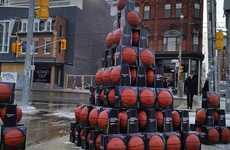 Pro-Bono Basketball Campaigns - Sport Chek Gives Free Basketballs in Toronto for All-Star Weekend