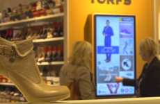 Touchscreen Shoe Displays - Interactive Screens at Torfs Help Consumers Browse for Products