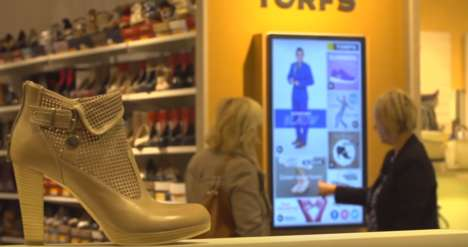 Touchscreen Shoe Displays