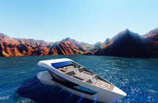 Aerodynamic Travel Boats - The CF8 Motor Concept Yacht Design Offers a Livable Oceanic Abode
