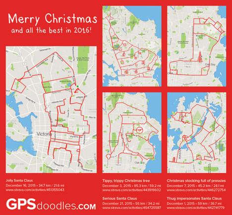 GPS Map Art