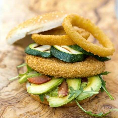 Breaded Hummus Burgers