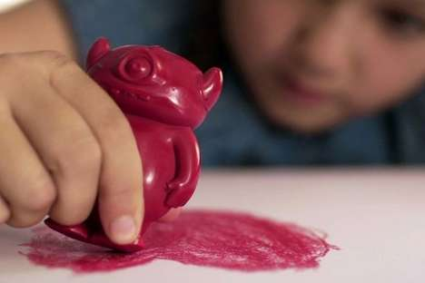 Monster-Shaped Crayons - These 3D-Printed Crayons for Kids Benefit Abused & Neglected Children
