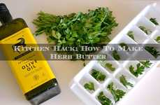 DIY Herbal Butters - This Tutorial Demonstrates How to Make Herb Butter Cubes