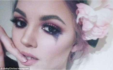 Glittery Tear Makeup