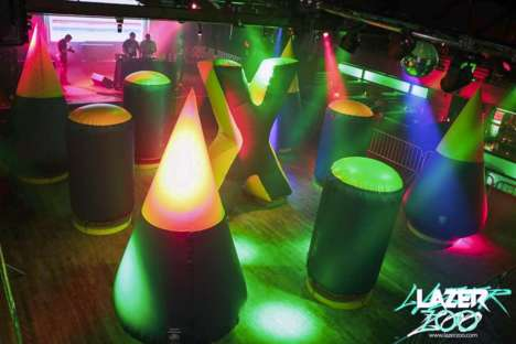 Hybrid Laser Tag Games - The 'Lazer Zoo' Event Combines Brunch and Laser Tag into One Experience