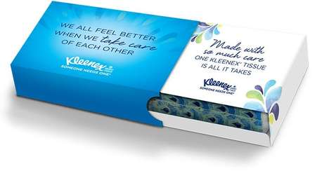 Sentimental Tissue Box Generators - Kleenex Extends its Messages of Care With Personalized Tissues