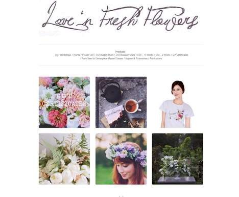 Lifestyle Flower Shops - The Love 'n Fresh Flowers E-Shop Appeals to Botany Enthusiasts