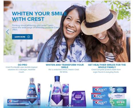 Oral Care Web Shops - The Crest Online Shop Lets Shoppers Customize Their Oral Care Routine