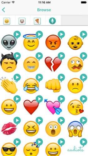Audible Emoji Apps