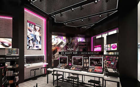 Digital Flagship Beauty Stores - The New NYX New Jersey Store Has an Interactive Makeup Station