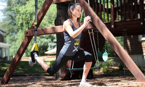 Suspension Workout Kits - The Portable TRX Home Gym Equipment Encourages Outdoor Exercise