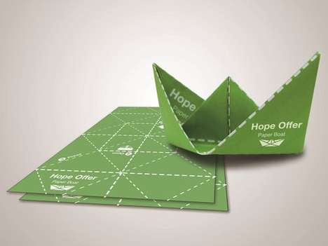 Insect-Killing Origami Crafts - This Paper Origami Boat is Infused with a Natural Mosquito Killer