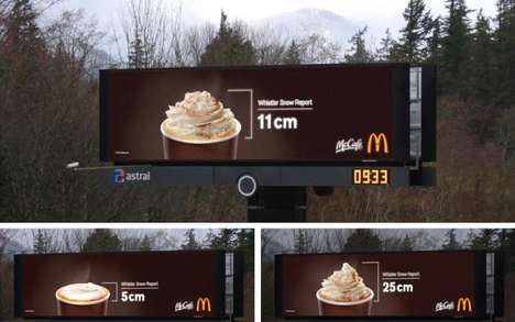 Whipped Cream Weather Billboards