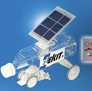 Solar-Powered Bottle Toys - This Solar PET Bottle Car Teaches Kids About Electronics and Upcycling