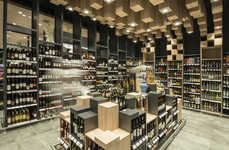 Customer-Focused Grocery Concepts - This Sofia Grocery Store Boasts an Elaborate Wine Department