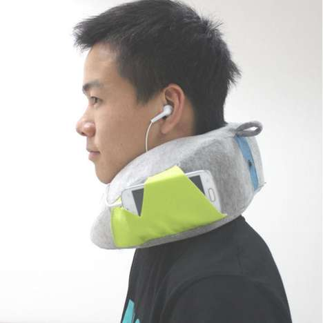 Ergonomic Device-Holding Pillows