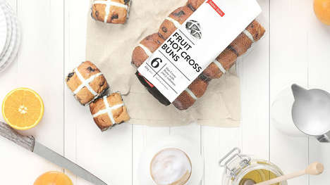 Hot Cross Bun Branding - Davies Bakery in Melbourne Has New Packaging for Its Hot Cross Buns