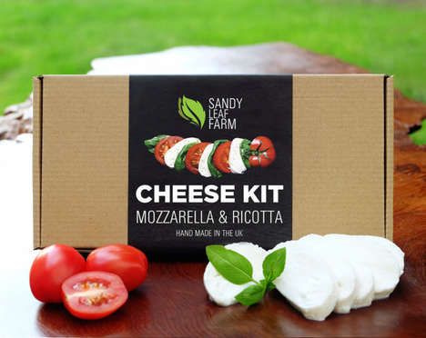 DIY Cheese Making Kits - Sandy Leaf Farms' Packaged Cheese Kits Boast Easy-to-Make Snacks