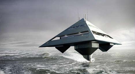 Pyramid-Shaped Yachts