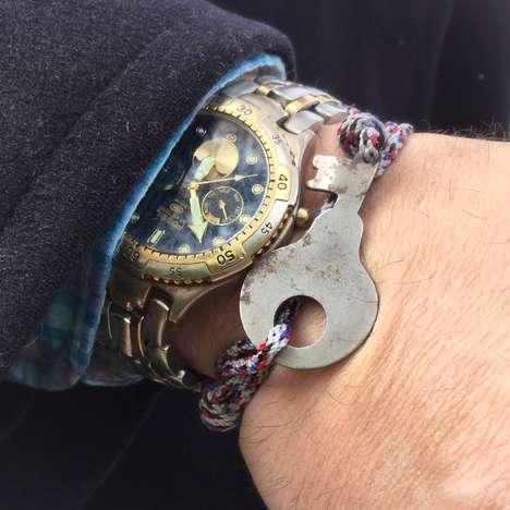 Upcycled Key Bracelets