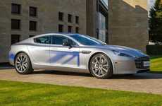 Electrifying Sports Sedans - This Aston Martin Sports Sedan Features Futuristic Battery Systems